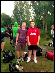 To av våre flotte juniorer, Mads Oliver  (12) og Johannes (14).